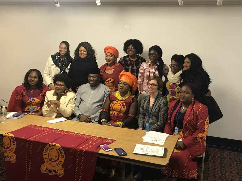 The members of theUmuado Igbo Nigeria and in Diaspora and event panelists